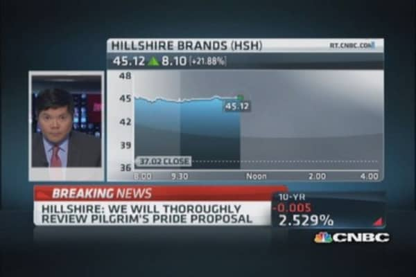 Hillshire responds to Pilgrim's Pride takeover offer