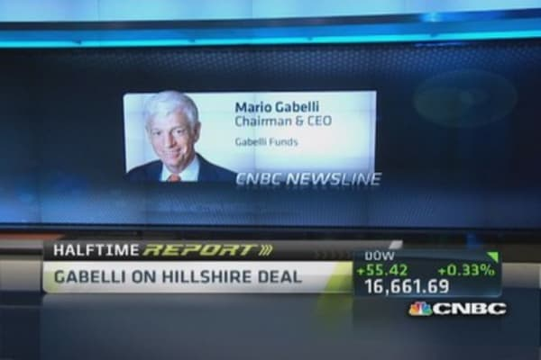 Gabelli: Pilgrim's Hillshire bid very attractive