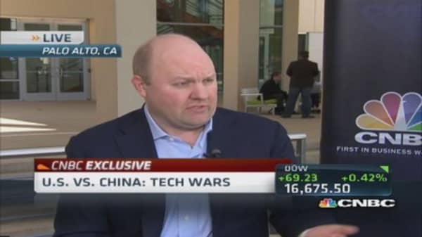 Marc Andreessen: Nervous about China hack threat