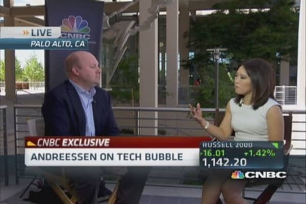 Marc Andreessen: Tech bubble 'apparently over'