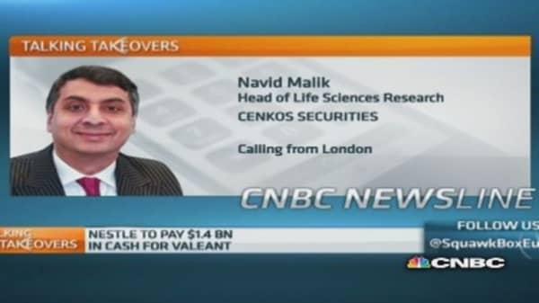 Nestle eying dermatology through Valeant deal