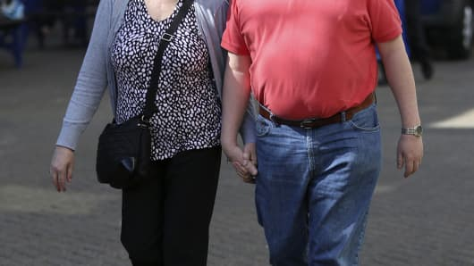Premium overweight couple