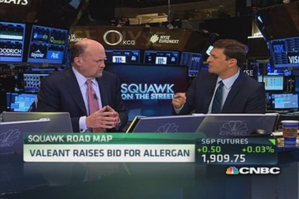 Cramer: Allergan needs Valeant deal