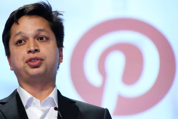 Ben Silbermann, co-founder and chief executive officer of Pinterest