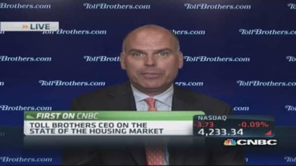 Toll Bros CEO: Confident in housing comeback
