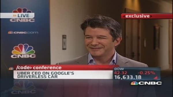 Uber CEO: Excited about self-driving vehicles
