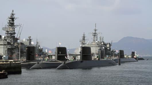 Military port in Kure, Hiroshima, Japan.