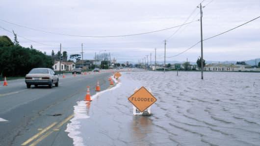 El Nino related flooding, Salinas, California, February 1998