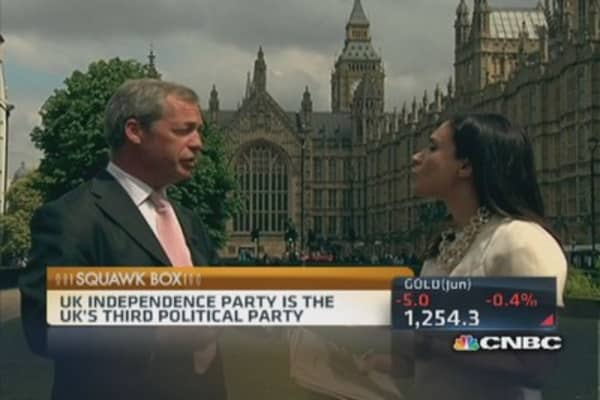 We do not want 75% of our laws made somewhere else: Farage