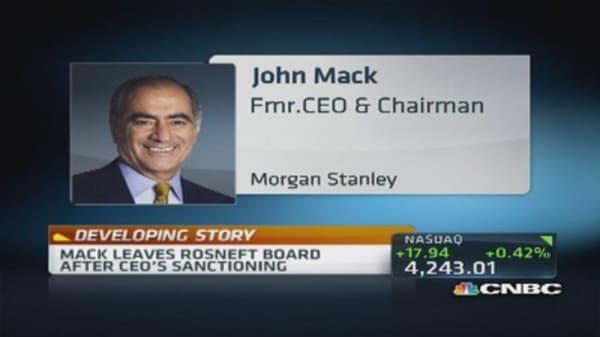 John Mack resigns from Rosneft: Report