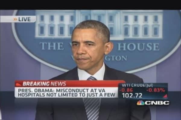Pres. Obama accepts VA Sec. Shinseki's resignation