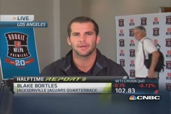 Jaguars' Bortles at NFL Rookies premiere