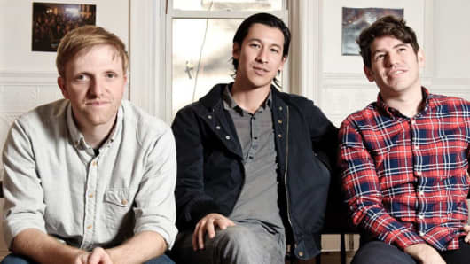 Charles Adler, Perry Chen and Yancey Strickler (left to right), founders of Kickstarter
