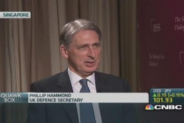 UK defense secretary: Support US & Japan