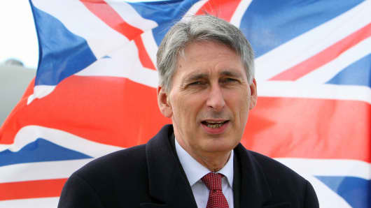 British Defense Secretary Philip Hammond.