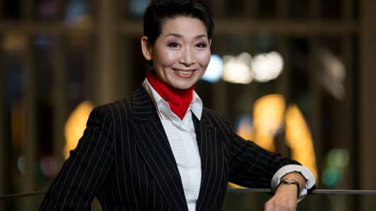 Sung Joo Kim, chairwoman and founder of Sungjoo Group, poses for a portrait in Seoul, South Korea