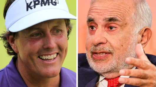 Phil Mickelson and Carl Icahn.