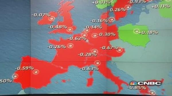 EU shares close lower after inflation data misses