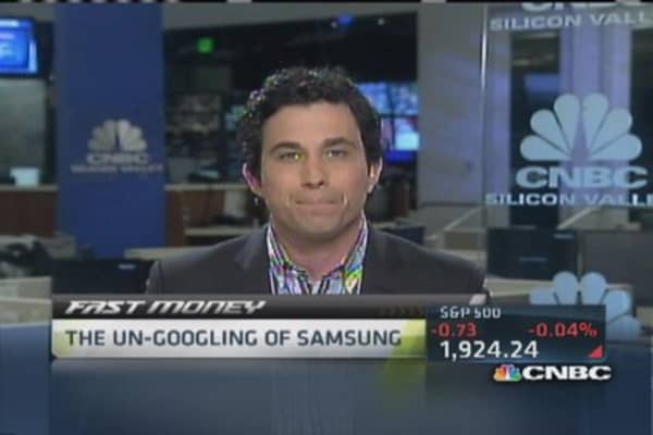 The un-Googling of Samsung