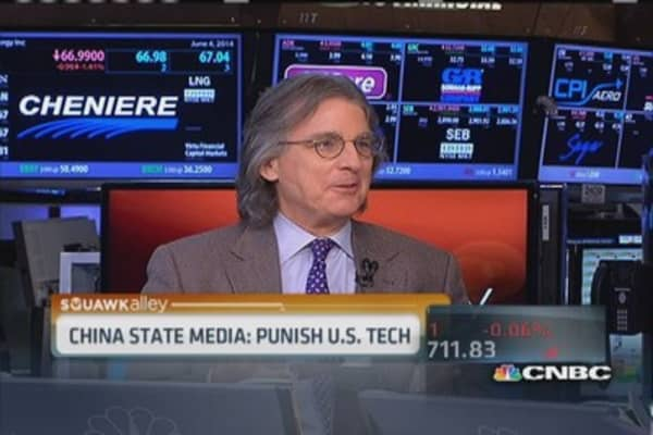 China state media: Punish US tech