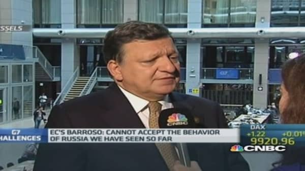 Barroso warns of step-up in Russia sanctions