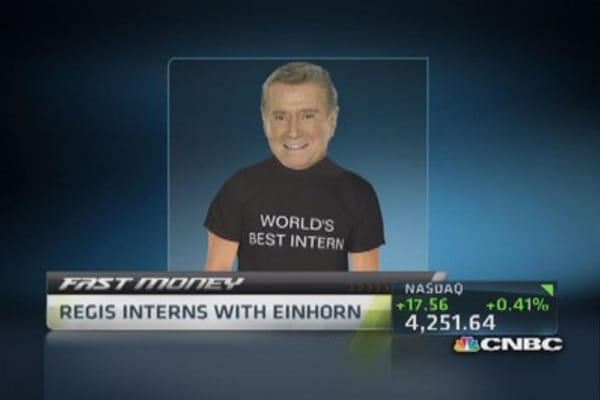 Regis Philbin: Best summer intern at Greenlight Captial