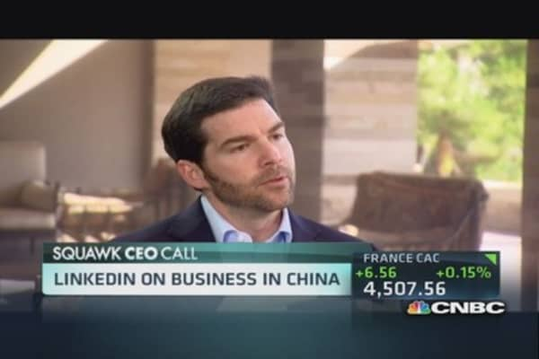 LinkedIn CEO sees opportunity in China