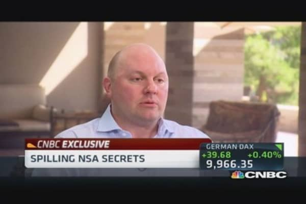 Andreessen: Snowden is a traitor