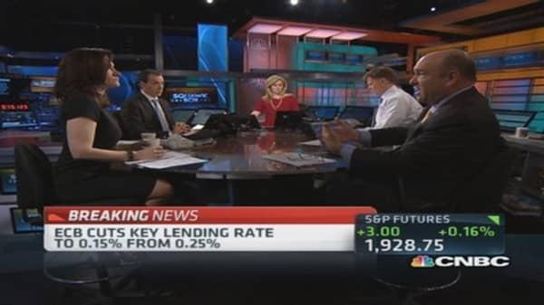 ECB rate goes negative