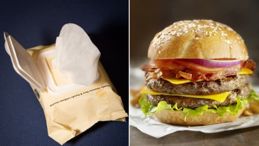 Many baby wipes and fast food items contain the preservative sodium benzoate.