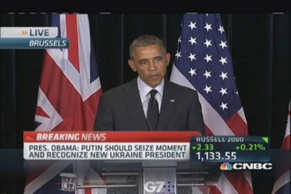 President Obama: Putin should seize this moment