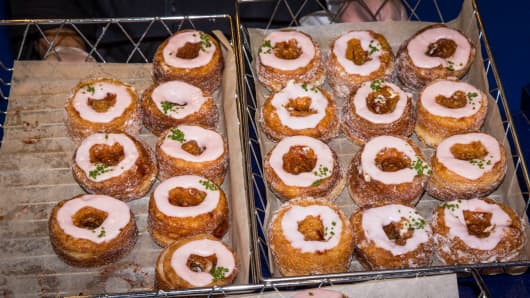 Cronuts help celebrate National Doughnut Day.