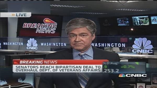 Senators reach bipartisan VA deal: Harwood