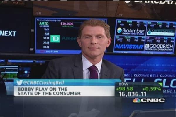 Bobby Flay: Consumer spending 'okay'