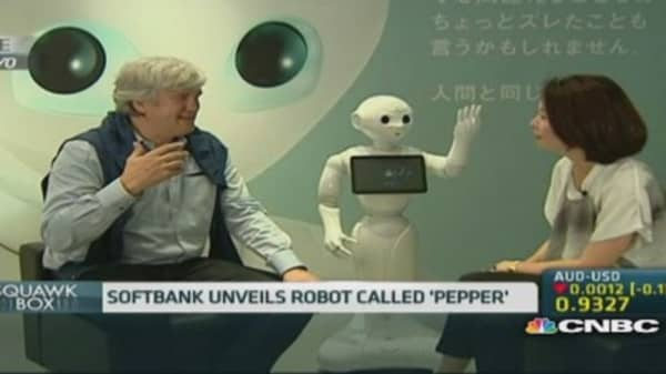 Meet Pepper, Softbank's human-like robot