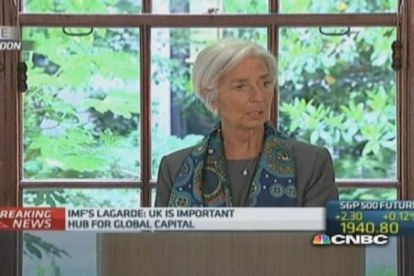 UK should not be complacent: Lagarde
