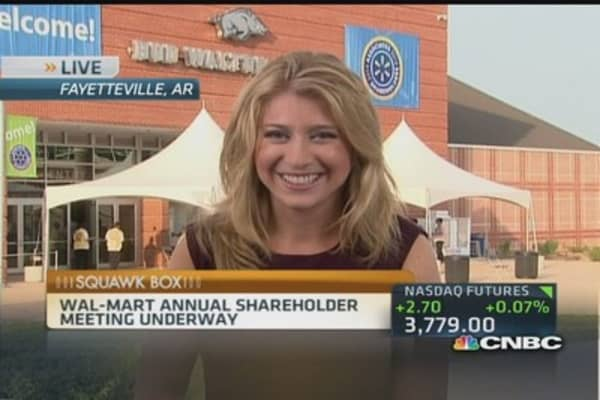 Wal-Mart's annual shareholders meeting