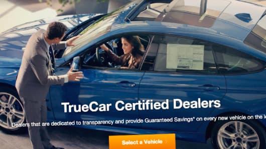 TrueCar web page