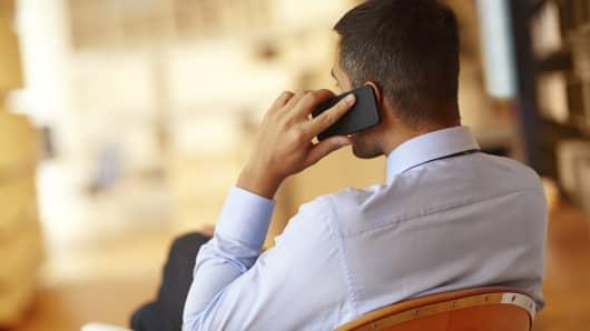Businessman on phone
