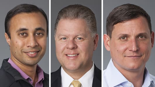 (left to right) Sumit Agarwal, Justin Call and Derek Smith, co-founders of Shape Security