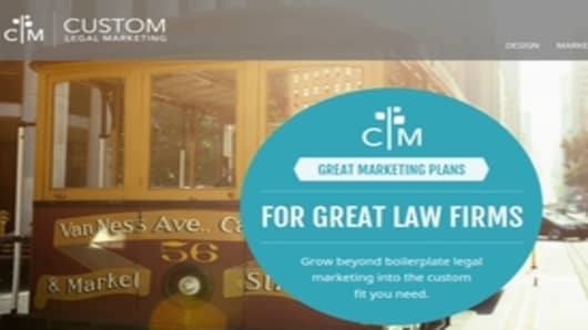 The award winning Custom Legal Marketing Website