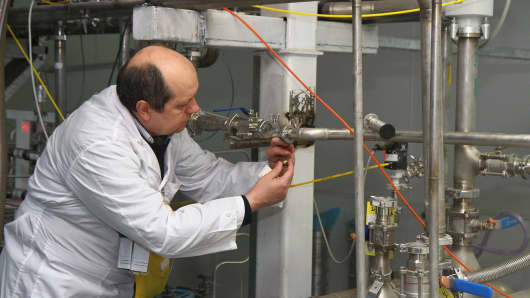 An International Atomic Energy Agency inspector at Iran's nuclear power plant in Natanz.