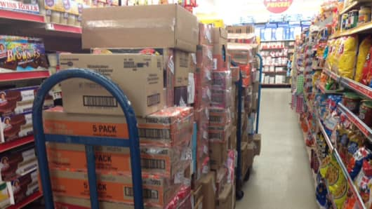 Inventory mismanagement is freakishly apparent. Where are they supposed to put all this stuff?
