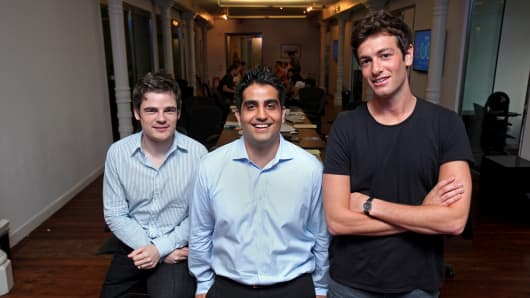 Mario Schlosser, Kevin Nazemi and Josh Kushner  (left to right), founders of Oscar
