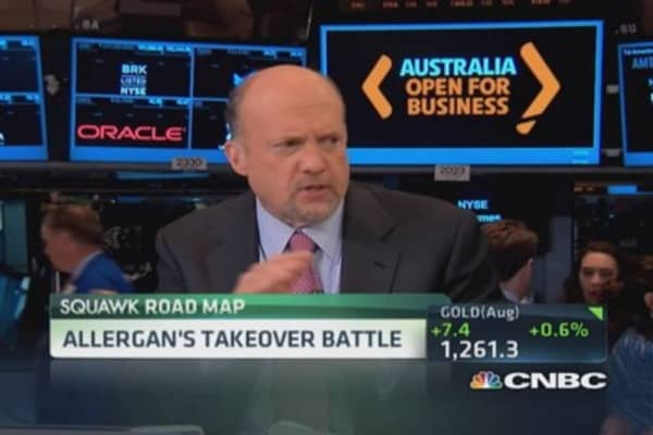 Allergan up against the wall: Cramer
