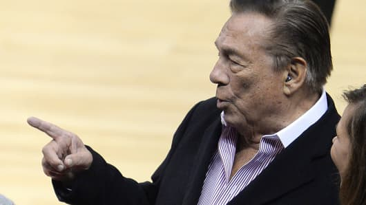 Former Los Angeles Clippers owner Donald Sterling