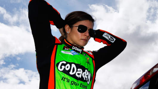 Danica Patrick, driver of the #10 GoDaddy Chevrolet