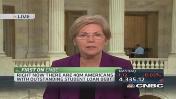 Sen. Warren: For-profit colleges suck 25% student federal loans