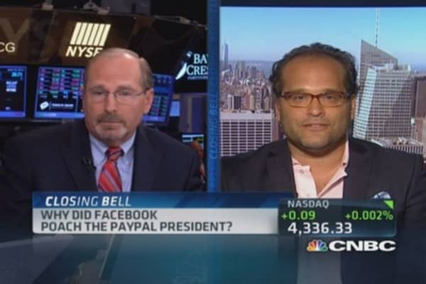 Facebook hires PayPal President