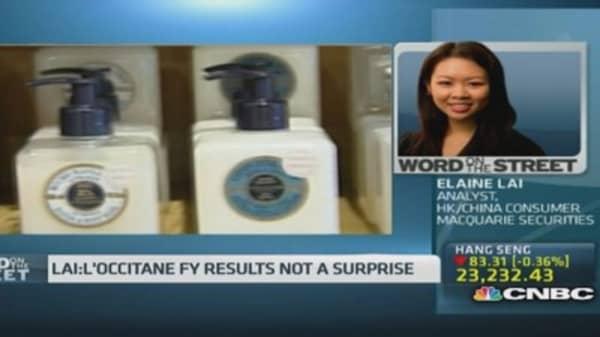 These factors will hurt L'Occitane's sales